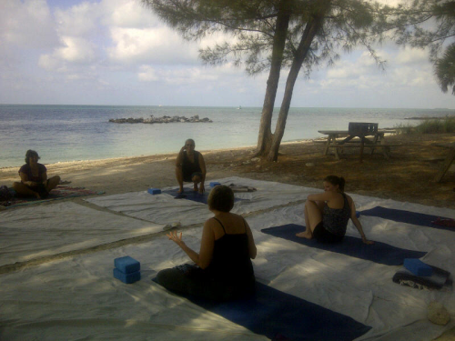 yoga on beach key west on carpoolcandy.com
