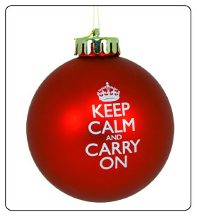 keepcalm carry on ornament holiday stress