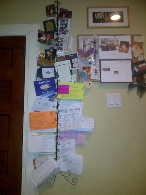 busy mom's bulletin board of stuff
