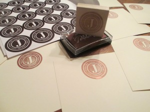 Bar mitzvah logo rubber stamp for thank you notes