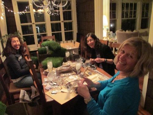 Bar mitzvah decorating friends help