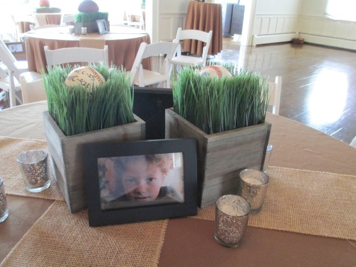 Bar mitzvah decorating personalized centerpieces