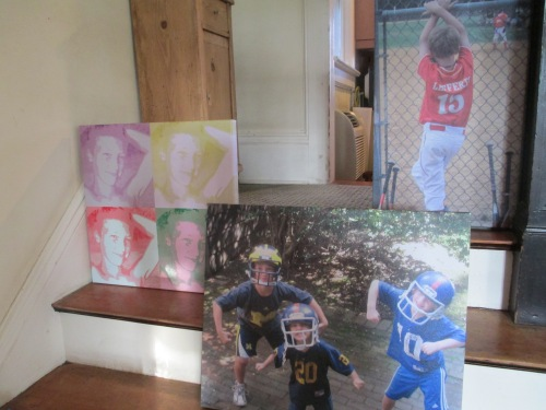 Bar mitzvah decorating personalized photo canvases