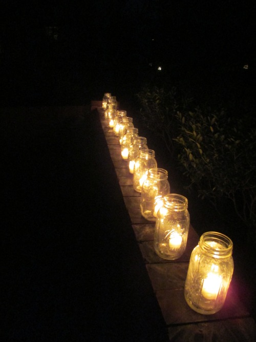 Bar mitzvah decorating personalizing outdoor candle jars