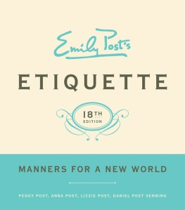 Emily Post Manners for New World  book