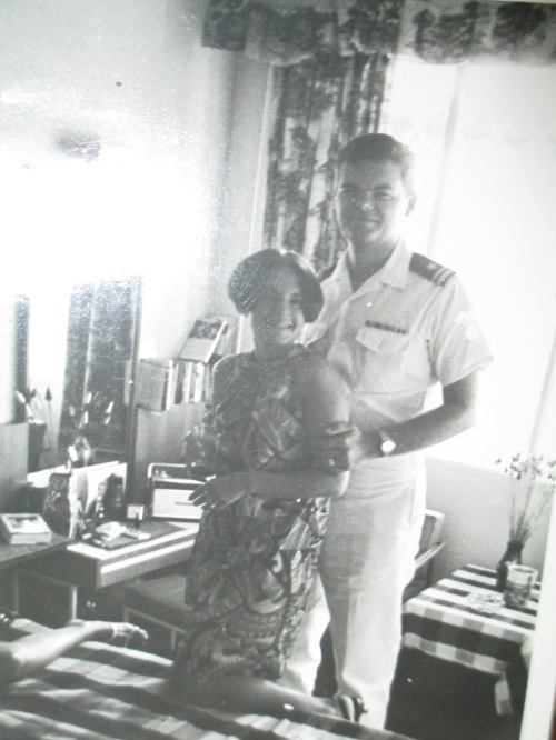 Mom and Dad during his Navy service, 1966