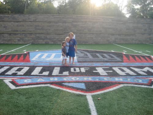 football hall of fame with kids carpoolcandy.com