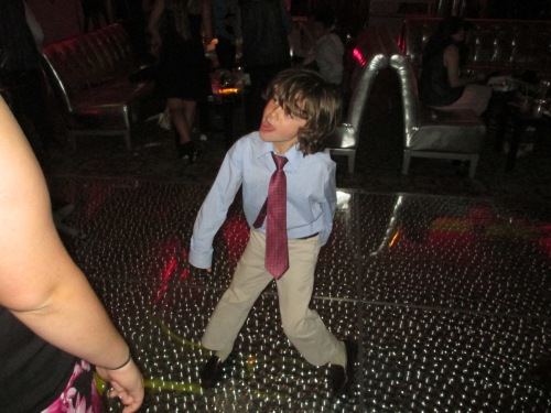 Eli gets down at a recent party