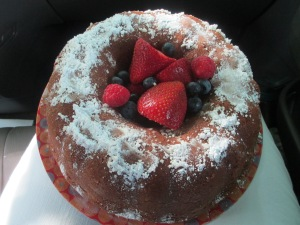 Pound cake for July 4th party