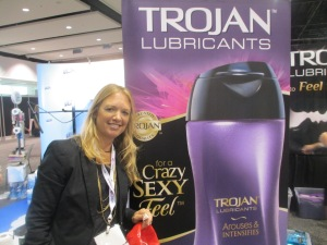 Trojan lubricant at swag expo at BlogHer13 on carpoolcandy.com