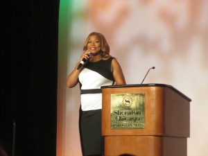 Queen Latifa was the emcee of Voice of the Year at BlogHer13