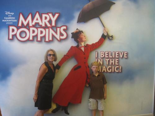 kid and grandma at Mary Poppins on carpoolcandy.com