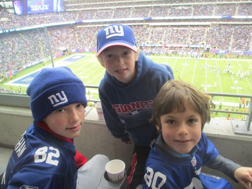 Young Giants fans at the game on carpoolcandy.com