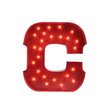 Light up letter from shed.com on carpoolcandy.com