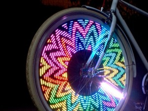 Cool bike wheel lights on carpoolcandy.com