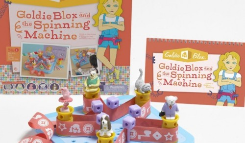 Goldieblox building set and book on carpoolcandy.com