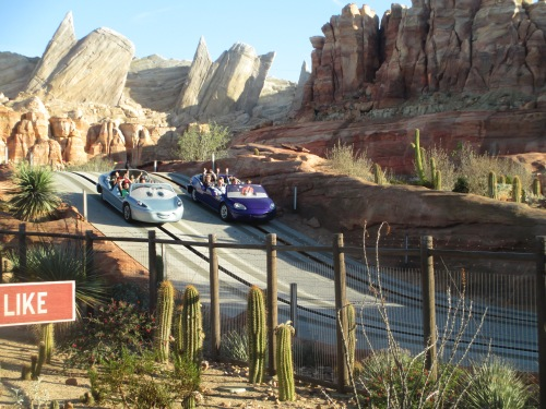 Cars ride Disneyland California Adventure on carpoolcandy.com