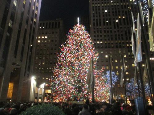 NYC Rockefeller Center tree on carpoolcandy.com
