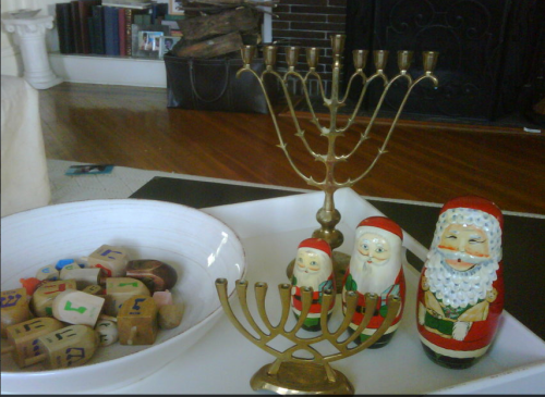 Celebrating Hannukah and Christmas on carpoolcandy.com