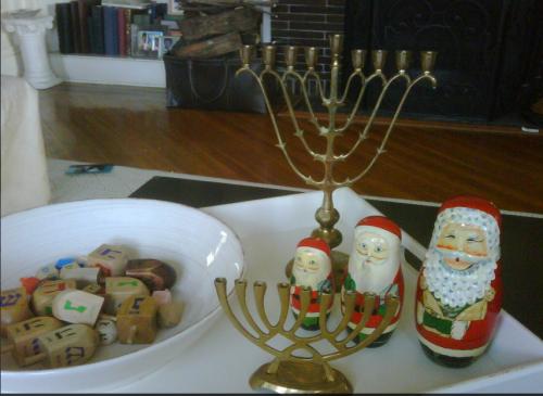 Celebrating Hannukah and Christmas on carpoolcandy.com