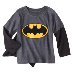 Super hero shirt with cape attached on carpoolcandy.com