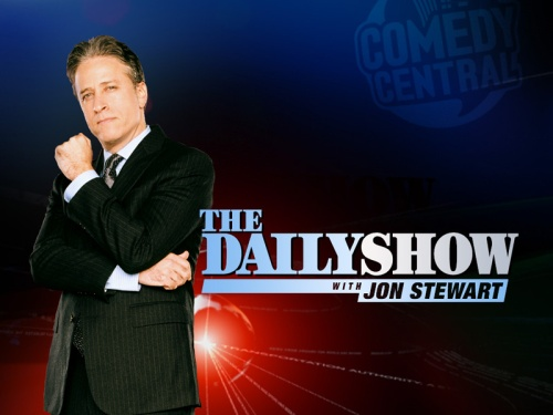 Daily Show with Jon stewart graphic on carpoolcandy.com