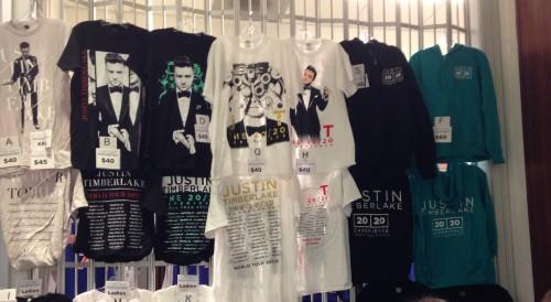 Justin Timberlake concert tshirts on carpoolcandy.com