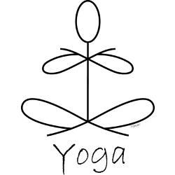 Yoga stick figure graphic