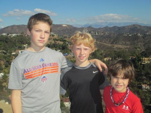 boys wearing sports logo tshirts on carpoolcandy.com