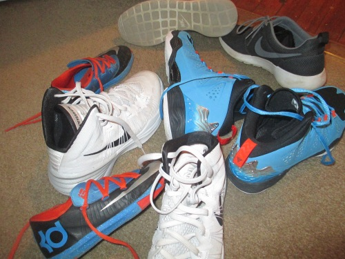 boys Nike sneakers on carpool candy.com
