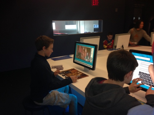 Animation stations at Museum of Moving Image on carpoolcandy.com