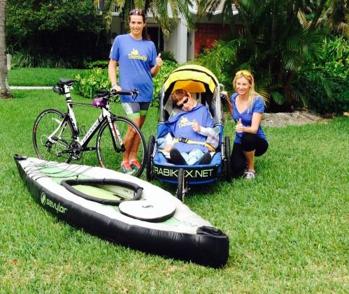 Paralyzed triathlete on carpool candy.com