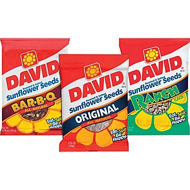 David's sunflower seeds on carpoolcandy.com