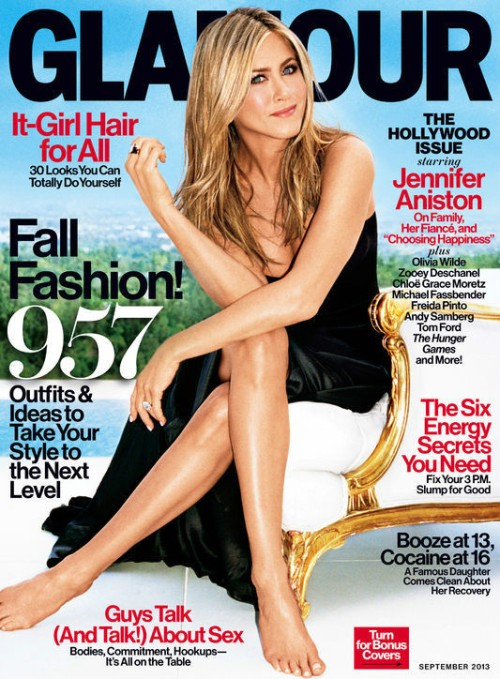 Jennifer Aniston Glamour magazine-cover on carpoolcandy.com