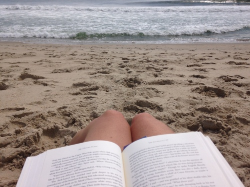 Beach reading on carpoolcandy.com