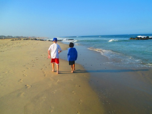 Beach walking  Summer 2014 on carpoolcandy.com