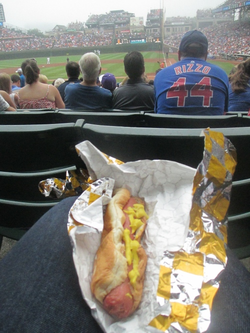 Vienna hotdog at Wrigley in Chicago on carpoolcandy.com