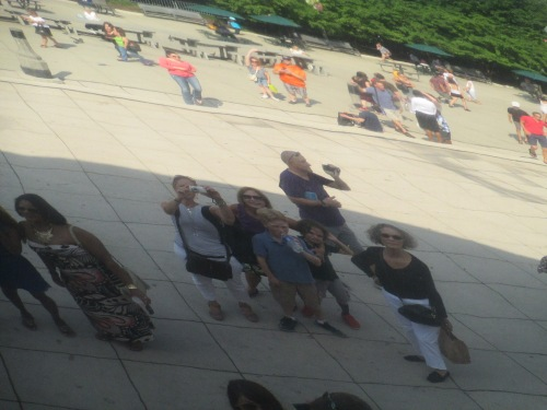The bean sculpture in Millennium Park in Chicago on carpoolcandy.com
