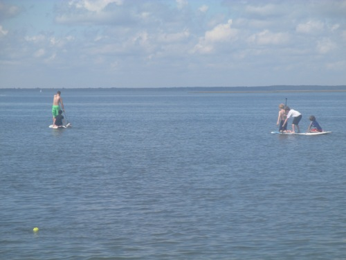 Paddle boarding on LBI on carpoolcandy.com