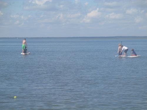 Paddle boarding on LBI on carpoolcandy.com