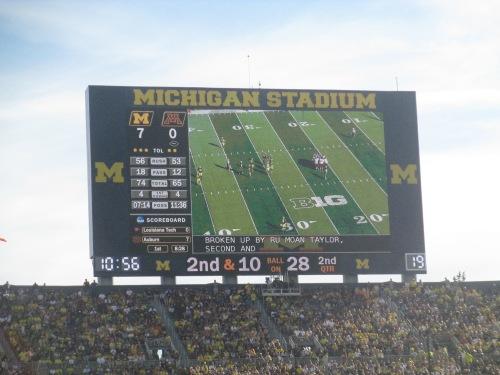 Michigan Stadium scoreboard on carpoolcandy