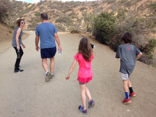 Hiking Runyon Canyon in LA on carpoolcandy.com