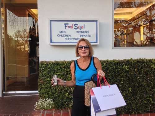 Shopping at Fred Segel in LA on carpoolcandy.com