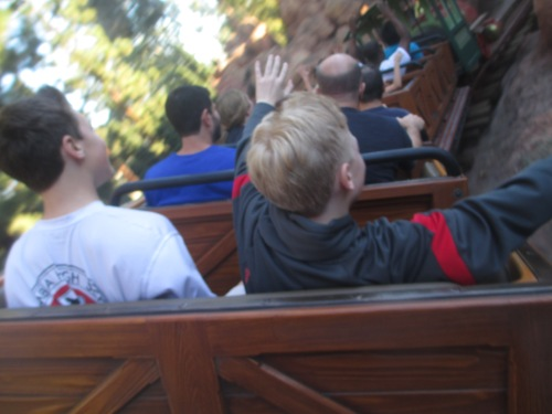 Thunder Mountain at Disneyland
