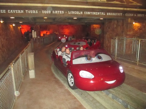Cars ride at California Adventure on carpoolcandy.com