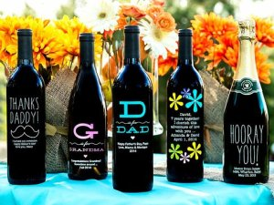 personalized etched wine bottles on carpoolcandy.com