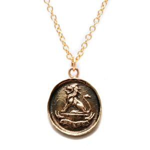 Pyrrha lion necklace on carpoolcandy.com