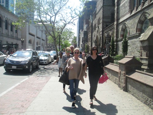Shopping on Newbury Street at Tufts reunion 2015 on carpoolcandy.com