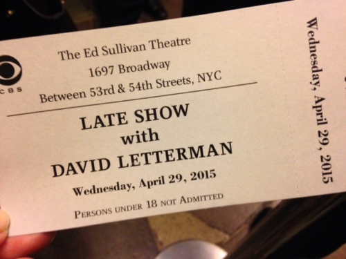 letterman ticket