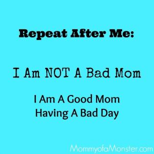 Not a bad mom graphic